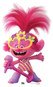 SC1494 Star Cutouts Poppy Trolls MINI Microphone Heart Glasses Height 95cm Width 58cm