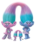 Star Cutouts SC1498 Sisters Satin and Chenile Trolls World Tour Height 111cm Width 93cm