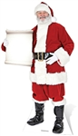 Star Cutouts Ltd SC15  Santa with Small Sign Christmas Cardboard Cutout Perfect for Function Room Decorations, Parties and Events Height 180cm