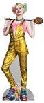 Star Cutouts SC1511 Harley Quinn Gold Jumpsuit Margot Robbie Birds of Prey Height 169cm Width 72cm