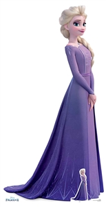 SC1533 Star Cutouts Ltd Elsa Violet Dress Lifesize Cardboard Cutout Perfect for Frozen Fans, Parties and Events Height 181cm Width 93cm