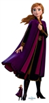 SC1534 Star Cutouts Ltd Anna Purple Velvet Coat Arendelle Lifesize Cardboard Cutout Perfect for Frozen Fans, Parties and Events Height 168cm Width 80cm
