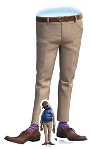 SC1552 Dad Onward Lifesize Cardboard Cutout/ Standee/ Standup Great Talking Point, Fun for Events and Parties