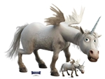 SC1553 Unicorn Onward Lifesize Cardboard Cutout/ Standee/ Standup Great Talking Point, Fun for Events and Parties