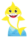 SC1555 Baby Shark (Yellow)Cardboard Cutout Perfect for Parties and Events Height 93cm Width 72cm