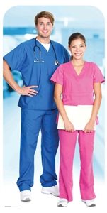 Star Cutouts Ltd SC1567 Doctor & Nurse Stand-In Lifesize Cardboard Cutout/ Display/ Medical Professional Height 190cm Width 96cm