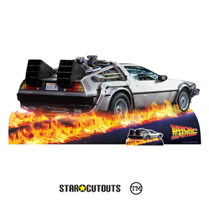 Star Cutouts SC1574 DeLorean Car Back to The Future Height 90cm Width 195cm