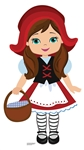 SC1579 Little Red Riding Hood Fairy Tales Large Cardboard Cutout