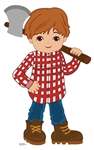 SC1581 Woodcutter Little Red Riding Hood Fairy Tales Large Cardboard Cutout