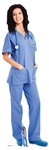 SC1583 Female Doctor/Nurse Lifesize Cardboard Cutout/ Display/ Medical Professional Height 176cm Width 57cm