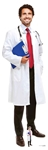 SC1584 Male Doctor Lifesize Cardboard Cutout/ Display/ Medical Professional Height 186cm Width 59cm