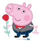 SC1592 George Pig Rose Lifesize Cardboard Cutouts/ Standee/ Stand Up