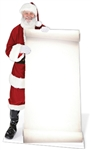 Santa with Large Sign Father Christmas Lifesize Cardboard Cutout