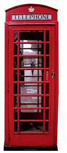 Star Cutouts British Phone Box Star Cutouts SC162 2 dimensional Red Telephone Box Cardboard Life Size Perfect for British Theme Parties, Stage a National Treasure 191cm Tall/6ft 2in
