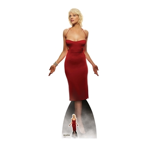 SC1641 Number Six Red Dress Tricia Helfer  Battlestar Galactica Lifesize Cardboard Standee with Free Mini Standee