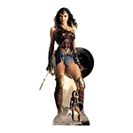 SC1646 Wonder Woman Justice League Shield Gal Gadot Lifesize Cardboard Cutout With Free Mini Standee