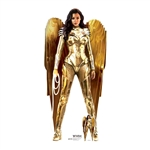 SC1672 Wonder Woman Gold Armour WW84 Gal Gadot Lifesize Cardboard Cutout With Free Mini Standee