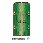SC1697 Fantasy/ Magical/ Fairy Single Doors Large Green Height 195cm Width 68cm Green