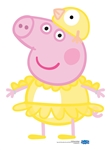 SC1698 Peppa Pig Chicken Easter Lifesize Cardboard Cutout Perfect Fun for Fans Height 82cm