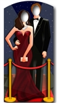 Red Carpet Couple Hollywood Adult Lifesize VIP Stand In