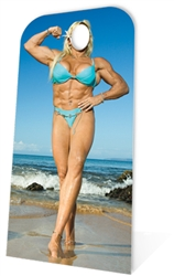 Muscle Woman Stand- In Lifesize Cardboard Cutout