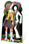 Star Cutouts Disco Couple Stand-in Lifesize Cardboard Cutout Perfect Disco & 70s Party Decoration 190cm/6ft 2in Tall