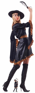Star Cutouts Pirate Woman with Sword Lifesize Cardboard Cutout