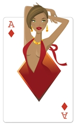 Star Cutouts Ace of Diamonds 'Babe' Playing Card Vegas Style