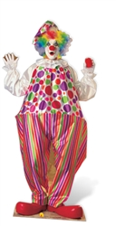 Star Cutouts Clown Lifesize Cardboard Cutout