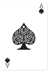 Star Cutouts  Ace of Spades Card Casino and Vegas Style