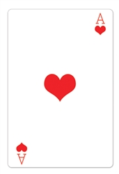 Star Cutouts Ace of Hearts Casino Playing Card