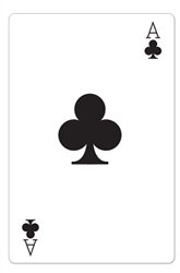 Star Cutouts Ace of Clubs Casino Playing Card