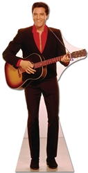 Elvis Red Shirt and Guitar