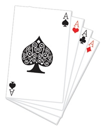Star Cutouts Hand of Playing Cards Vegas and Casino Style