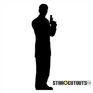 Silhouette perfect for James Bond, glamorous events Lifesize Cardboard Cutout