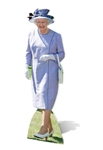 Star Cutouts Queen Elizabeth II- Lilac Dress Royal Family