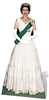 Star Cutouts Ltd SC350 Queen Elizabeth II 1956 Coronation Lifesize Cardboard Cutout Perfect for Royal Parties, Mileston Birthdays and British Royalty Events Height 181cm