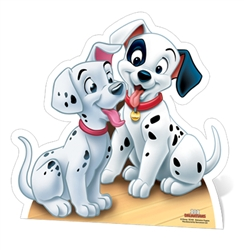 Star Cutouts Ltd SC418 Dalmatians- Puppies Star Mini Cut-out Perfect for Disney Fans, Party Supplies and Events Height 58cm