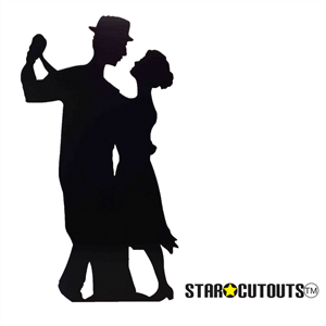 Star Cutouts Salsa Dancer (Silhouette) Black Lifesize Cardboard Cutout