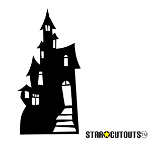 Star Cutouts Large Haunted House (Silhouette) Lifesize Cardboard cut out Halloween