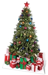 Star Cutouts Ltd SC57 Large Christmas Tree Cardboard Cutout Perfect for Staff Room and Office  Christmas Decorations, Parties and Events Height 178cm