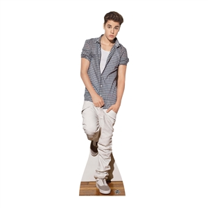 Manufactured by Star Cutouts JUSTIN BIEBER (CHECK SHIRT)