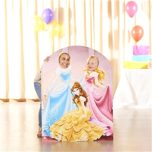 Disney Princess Cardboard Cut Out Stand Up Belle Cinderella Sleeping Beauty Child Size Stand In
