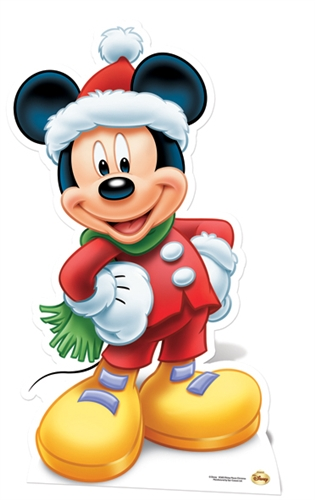 Christmas Stand In Cutouts.Star Cutouts Disney Christmas Mickey Mouse Winter Hat And