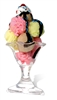 Star Cutouts Ltd SC66 Ice Cream Sundae in Tall Glass Giant Cardboard Cutout Great for Food Theme Parties, Shop Window Displays and Events Height 180cm