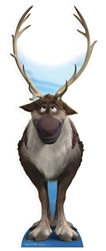 Star Cutouts Ltd SC728 Sven Reindeer Large Cardboard Cutout Frozen Christmas Perfect for Schools, Office, Home and Events Height 192cm