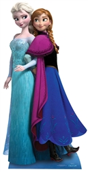 Star Cutouts Ltd SC730 Anna & Elsa (Frozen) Large Cardboard Cutout Frozen Christmas Perfect for Schools, Office, Home and Events Height 162cm