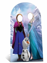 Star Cutouts Ltd SC760 Anna and Elsa Frozen Stand-In Adult Sized Large Cardboard Cutout Perfect for Christmas, Frozen Parties, Gifting and Events Height 188cm