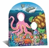 Star Cutouts SC764 Under the Sea Cardboard Cutout Stand In with Octopus, Turtle, Crab and Fish Perfect for Children's Theme Parties Height 118cm