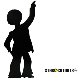 Star Cutouts Disco Dancer - Male (Silhouette) Black Lifesize Cardboard Cutout